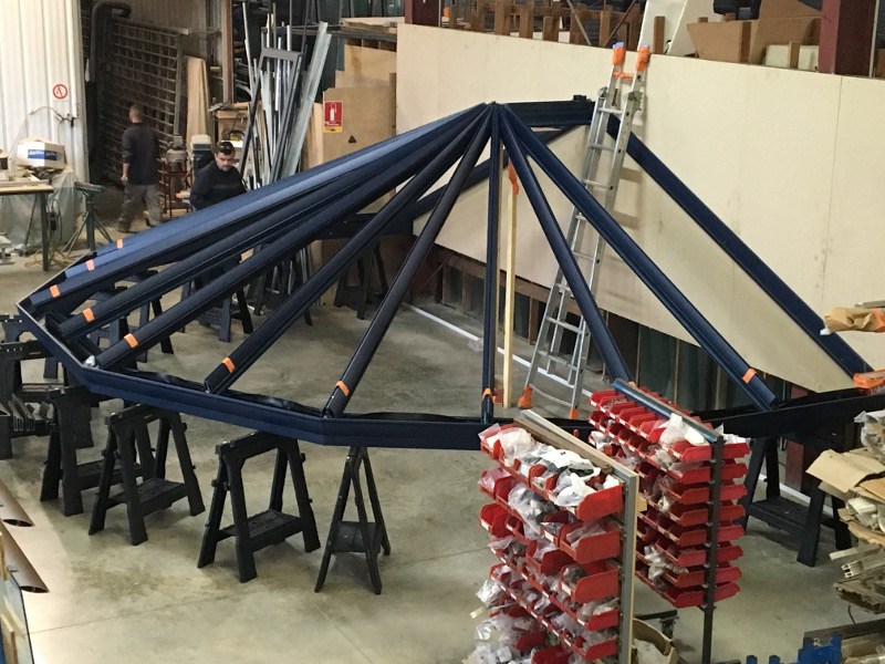 fabrication toiture de véranda Alu Glace 1