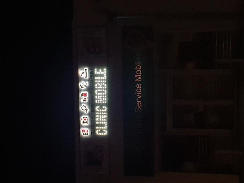 réalisation Enseigne lumineuse MP Stores 4