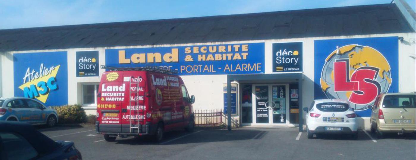 devanture Land Sécurité & Habitat