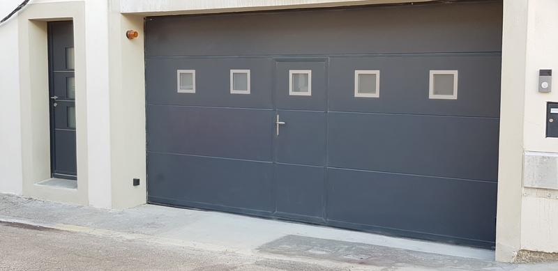 réalisation Porte de garage sectionnelle MP Stores