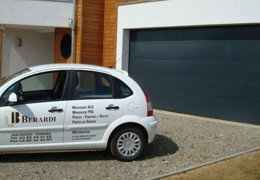 réalisation Porte de garage sectionnelle BERARDI PVC 5