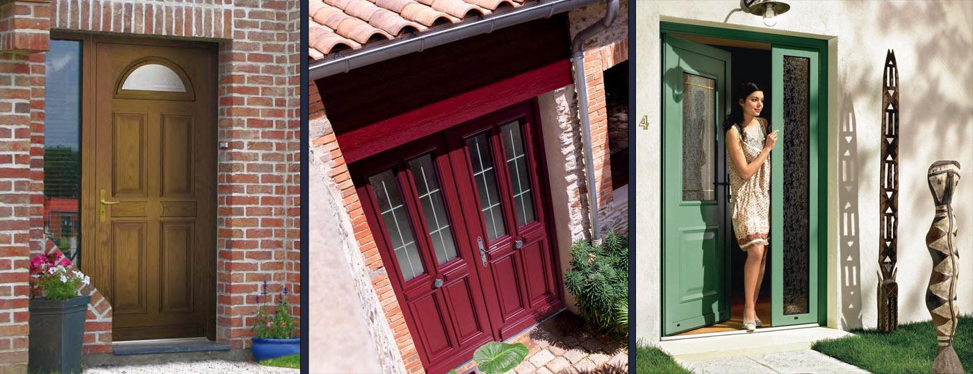 Portes entrée bois à Dijon